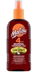 Malibu - Coconut Oil Rusketusöljy Spray (SPF4) - 200ml