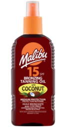 Malibu - Coconut Oil Rusketusöljy Spray (SPF15) - 200ml