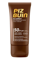 Piz Buin - Allergy Sun Sensitive Skin Face Cream - aurinkosuojavoide kasvoille (SPF50+) - 50ml - UUTUUS!